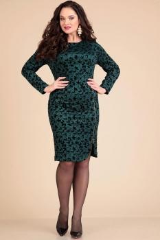Платье Лиона-Стиль 611-1 сине-зеленый оттенок