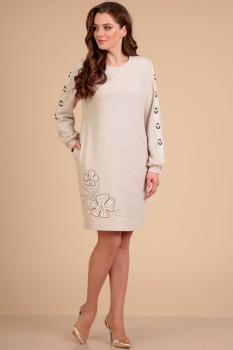 Платье Лиона-Стиль 612 бежевый
