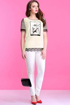 Блузка Lissana 2834-1 бежевый оттенок