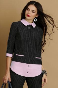 Комплект Lissana 2915-1 темно-серый с розовым - фото 4