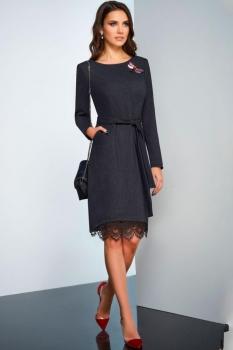 Платье Lissana 3251 темно-синий