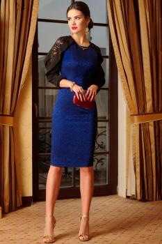 Платье Lissana 3292 василек