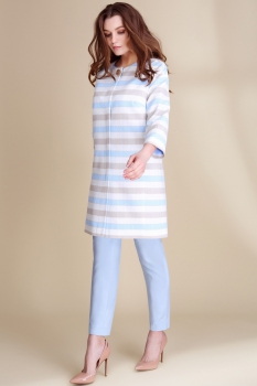 Жакет Магия Моды 1123-1 голубой с белым