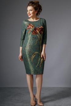 Платье Магия Моды 1279 зелёный