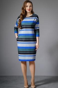 Платье Магия Моды 1280 сине-серый