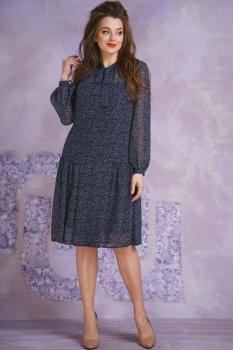 Платье Магия Моды 1364-1 тёмно-синий