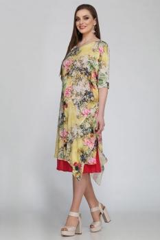 Платье Matini 1912-1 с желтым