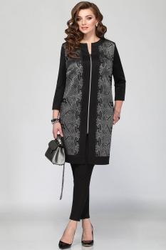 Пальто Matini 21002-3 с серыми узорами