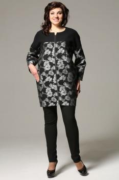 Пальто Matini 2846 черно-серые тона