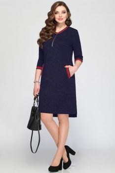 Платье Matini 31151-1 темно-синие тона