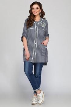 Блузка Matini 41084-3 полоски синие