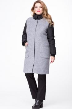 Пальто Michel Chic 347-1 серый с чёрным