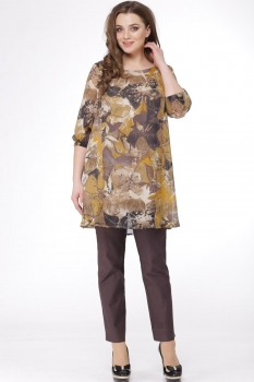 Костюм Michel Chic 541 коричневый, охра