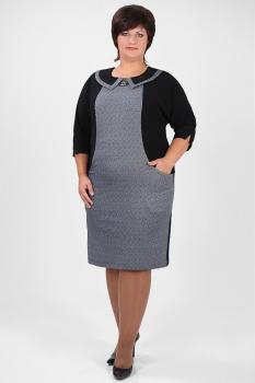 Платье Michel Chic 642.1 серо-черный