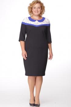 Платье Michel Chic 683 тёмно-синий с белым