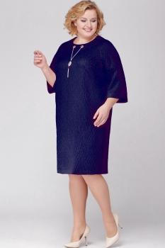 Платье Michel Chic 689-2 тёмно-синий