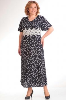 Платье Милана 751 тёмно-синий