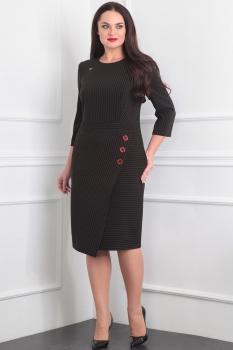 Платье Милана 869 чёрно-золотистый