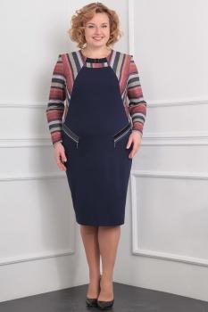 Платье Милана 892 тёмно-синий