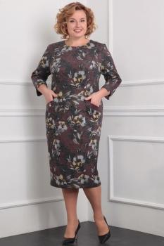 Платье Милана 894 коричневый