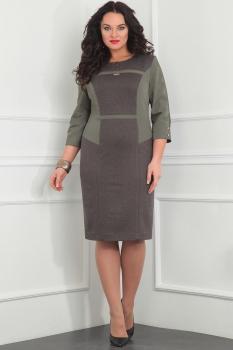 Платье Милана 903 серо-зелёный