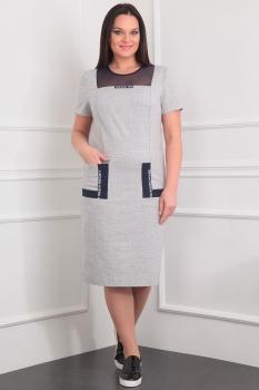 Платье Милана 911 серый
