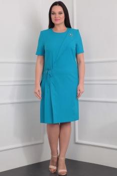Платье Милана 912-1 бирюзовый