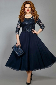 Платье Mira Fashion 3978-2 синий