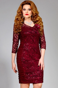 Платье Mira Fashion 4135-10 бордовый