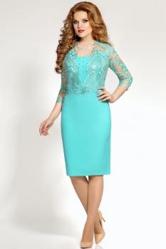 Платье Mira Fashion 4298 бирюзовый