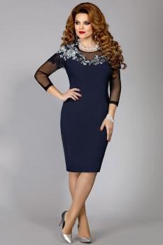 Платье Mira Fashion 4319 синий