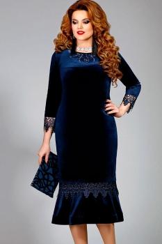 Платье Mira Fashion 4324 синий