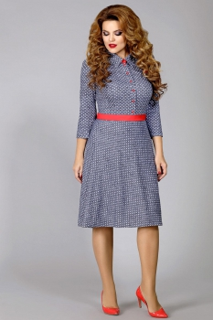 Платье Mira Fashion 4328 синий