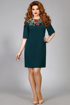 Платье Mira Fashion 4352 зеленый