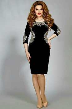 Платье Mira Fashion 4361 черный