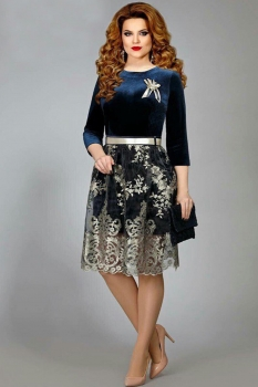 Платье Mira Fashion 4375 синий