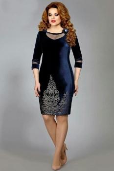 Платье Mira Fashion 4379-1 синий