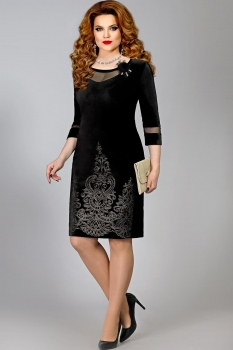 Платье Mira Fashion 4379-2 черный