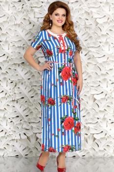 Платье Mira Fashion 4417 голубой