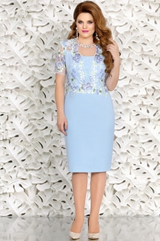 Платье Mira Fashion 4429 голубой