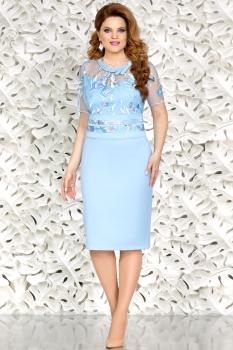 Платье Mira Fashion 4432 голубой