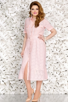 Платье Mira Fashion 4438 пудра