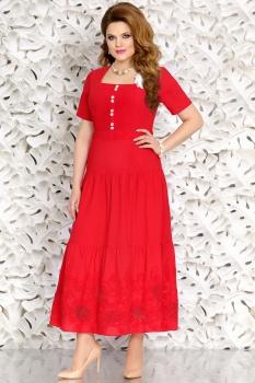 Платье Mira Fashion 4456 красный