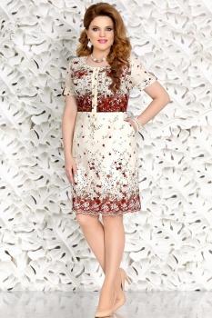 Платье Mira Fashion 4459 светлые-тона