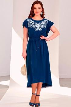 Платье Мишель Стиль 688-2 темно-синий