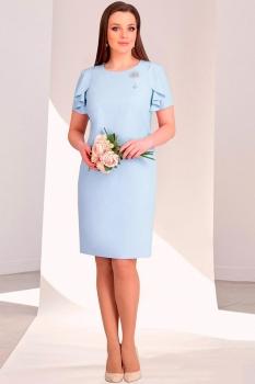 Платье Мишель Стиль 691-2 голубые тона