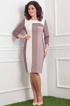 Платье Мода-Юрс 2001-1 бежевые тона