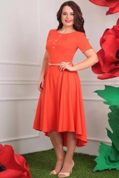 Платье Мода-Юрс 2253-2 оранжевый