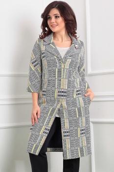 Кардиган Мода-Юрс 2391-1 серый+желтый