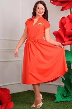 Платье Мода-Юрс 2394-3 оранжевый